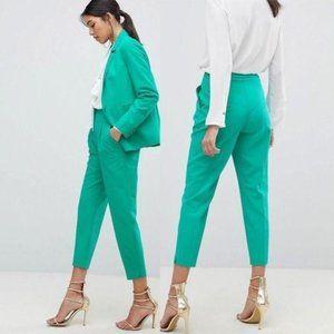 Asos Green Mix & Match Highwaist Cigarette Pants 4